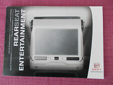 SEAT REAR SEAT ENTERTAINMENT  HANDBOOK. ALHAMBRA EXEO ALTEA  (ACQ 3118)