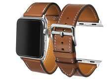 Brown Genuine Her/mes Calf Leather Watch Band Strap For Apple Watch Edition 42mm