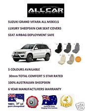Sheepskin Car Seatcovers Suzuki Grand Vitara, Seat Airbag Safe, 5 Colours.30mmTC