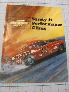 DICK HARRELL Safety and Performance Clinic Booklet - VHTF Very Good Condition