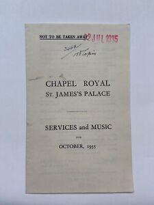 Antique King George V Royal Letter  Proof 22 July  1935