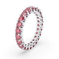 100% Natural 1.50Ct Diamond Cut Ruby U Prong Full Eternity Ring Hallmarked Gold