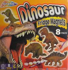 Dinosaur Mould & Paint Plaster Activity Kit Craft Art Set Make 8 Fridge Magnets