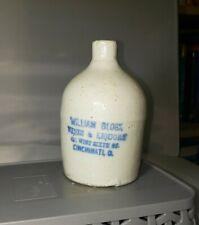 New listing Super Miniature pottery jug William Block Wines and Liquors Cincinnati Ohio