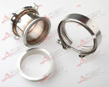 """UNIVERSAL STAINLESS STEEL 3"""" 4 BOLT TO 3.0'' V-BAND TURBO DOWNPIPE ADAPTER KIT"""
