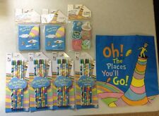 New Lot Dr. Seuss Oh The Places You'll Go Pencils Notebook Erasers Bag