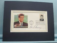 President John F. Kennedy and the First Day Cover of his own stamp