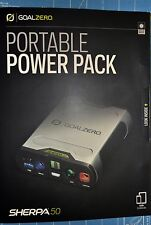 NEW Goal Zero/0 Sherpa 50 Power Pack 12 volt, USB, 19v Laptop Port & AC output ☦