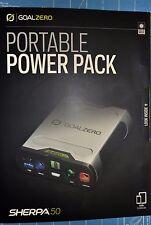 NEW Goal Zero/0 Sherpa 50 Power Pack 12 volt, USB, 19v Laptop Port & AC output ☦