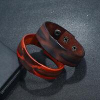 New Surfer Unisex Men's Vintage Wrap Leather Wristband Bracelet Cuff Punk Bangle