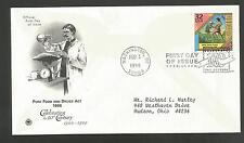 PURE FOOD AND DRUGS ACT 1906 FEB 3,1998  CELEBRATING  20TH CENTURY FDC