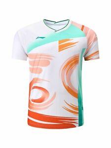 Li-Ning Men Badminton T-Shirts Sudirman Cup clothes tennis Sport Tops