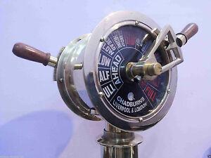 Ship's Engine Order Brass Telegraph Nautical Maritime Collectible Home Decor