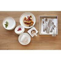 Threshold™ Solid White Round Coupe Dinnerware 16 Piece Porcelain Set