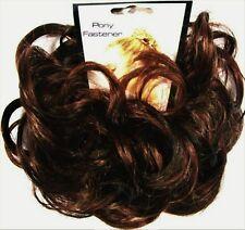 LACEY 3-inch Pony Fastener Hair Scrunchie - 4-30 Dark Brown-Auburn