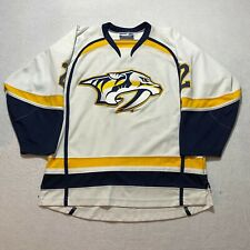 Vintage Nashville Predators Hockey Jersey Size XL White Stitched Made In Canada