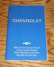 1980 Chevrolet Full Size Car Owners Operators Manual 80 Chevy Impala Caprice