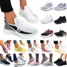 Damen Sneaker Turnschuhe Laufschuhe Halbschuhe Fitness Flach Freizeit Schuhe DE