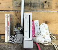 Nintendo Wii Video Game System Bundle RVL-001 Console W/All Cables Tested