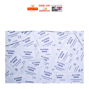 200 300 400 600 800 1000 SWABS STERILE ANTISEPTIC ALCOHOL WIPES 70% PADS NAIL