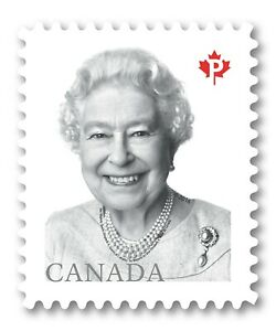DIE CUT = QUEEN ELIZABETH II, = stamp from booklet, MNH Canada 2016 #2888i