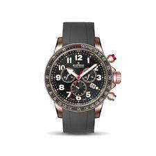 Edox 10229 37RRCA NRB Men's Chronorally S Black Quartz Watch