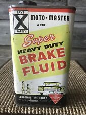Vintage Canadian Tire Oil Can Moto-Master Oil