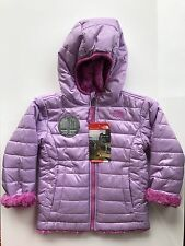 Girls The North Face Reversible MossBud Swirl Jacket - NWT - Lupine - 3T