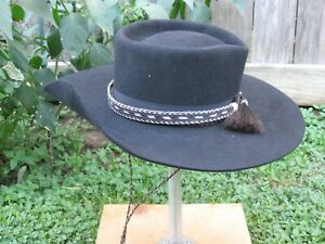 Cowboy, Ringo, Tombstone, hat, Handmade, 7 1/2, Black 5X Beaver ,New, SASS
