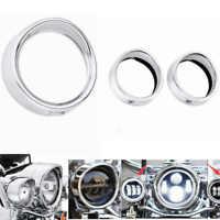 "Harley Street Glide Chrome 7"" Headlamp Trim Ring 4.5"" Passing Lamp Trim Ring"
