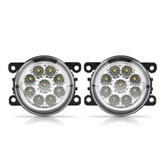 9 LED White Light Car Round Front Fog Lamp DRL Halo Angel Rings For Ford Focus