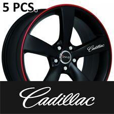 5pcs CADILLAC Door Handle Wheel sticker decal STS DTS CTS SRX