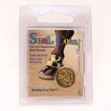 Manuscript Decorative Wax Sealing 18mm Coin Seal - Initial G
