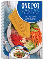 One Pot Pasta Cookbook color photos, One dish hearty meals for family coil bound