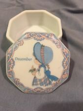Precious Moments December Trinket Box By Enesco (1999)