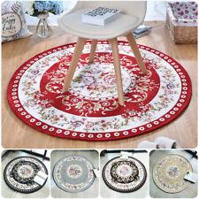 Round Jacquard Country Flower Room Carpet Living Room Flower  Rugs Room Doormat