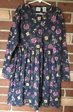 Gap Girls (Kids) L 10 Vintage Country Blue Wildflower Dress Daydress Ls