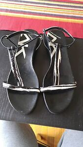 AnnKlain black and white sandals
