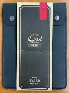 "NEW Herschel Leather iPad Air Sleeve (10.5"" x 6"", Spokane Air) Premium Black"