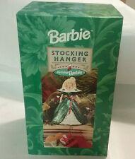 1996 holiday barbie stocking hanger nib nwt