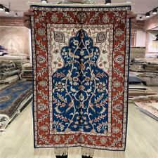 Yilong 2'x3' Pictorial Handmade Classic Silk Carpet Porch Hand Knotted Rugs 403M