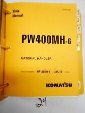 Komatsu PW400MH-6 Material Handler Shop Service Manual  Serial #'s A84210-up