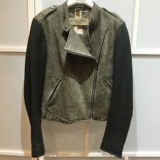 100% authentic Burberry jacket with leather sleeves