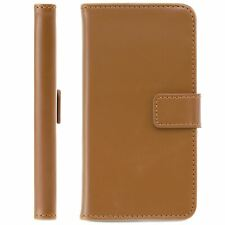 Brown Leather Wallet Cover Flip Case For Samsung Galaxy A3 2014-15 (A300)