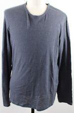 MINT John Varvatos Star USA Long Sleeve Crew Neck Tee Shirt MENS XL Blue