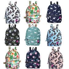 Small Backpack Printed Pattern Mini Bag Ladies Girls School Handbag Rucksack