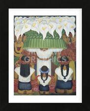FRAMED ART Flower Festival: Feast of Santa Anita, 1931 Diego Rivera Print 13x16