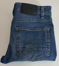 River Island Mens Jeans W28 L34 Dark Blue Skinny Fit Stretch Size 28x34 28L