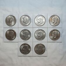 Eisenhower Ike Dollar Mixed Date Lot 10 Pieces! Circulated Condition