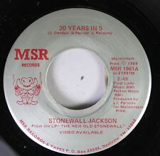 Country Private Rare 45 Stonewall Jackson - 20 Years In 5 / Jesus And My Lady Lo
